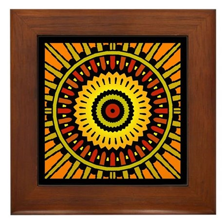 Midnight Sun Framed Tile