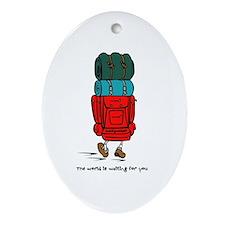 Backpacker Oval Ornament