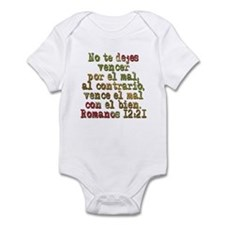 Romanos 12:21 Infant Bodysuit