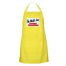 """The World's Best Parking Attendant"" BBQ Apron"