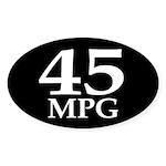 45 mpg (fuel efficiency bumper sticker)