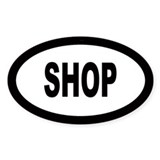 Shopping Oval Decal