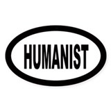 Humanist Oval Decal