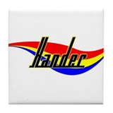 Xander's Power Swirl Name Tile Coaster