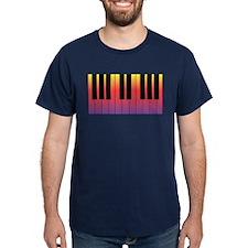 New Hot Fiery Piano Keyboard T-Shirt