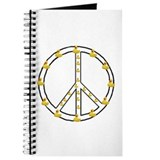 Yellow Ducky Peace Symbol Journal