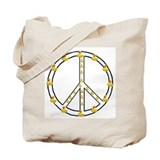 Yellow Ducky Peace Symbol Tote Bag