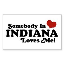 Somebody In Indiana Loves Me Rectangle Decal
