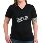 The Eh Team Women's V-Neck Dark T-Shirt