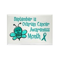 Ovarian Cancer Awareness Month 4.2 Rectangle Magne