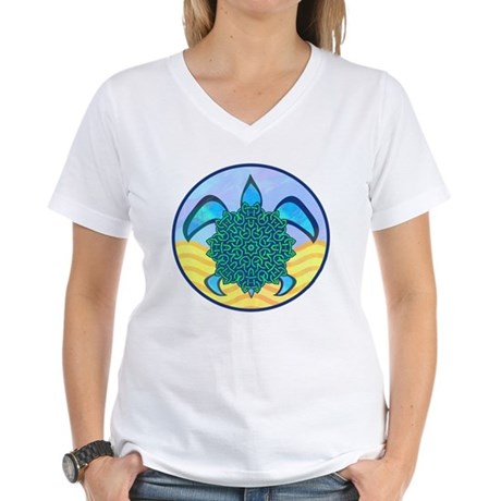 Knot Turtle Women's V-Neck T-Shirt