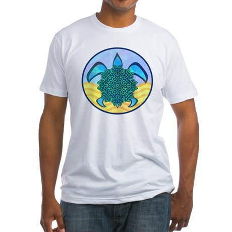 Knot Turtle Fitted T-Shirt