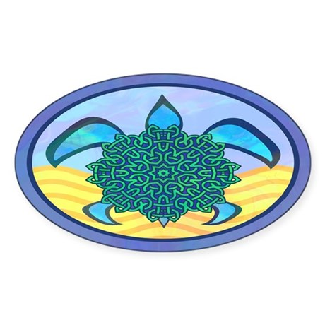 Knot Turtle Sticker (Oval)