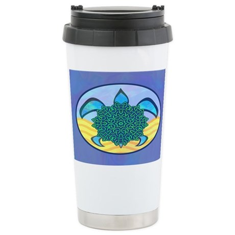 Knot Turtle Ceramic Travel Mug