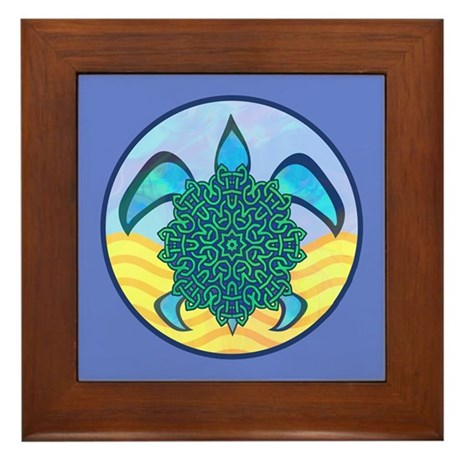 Knot Turtle Framed Tile