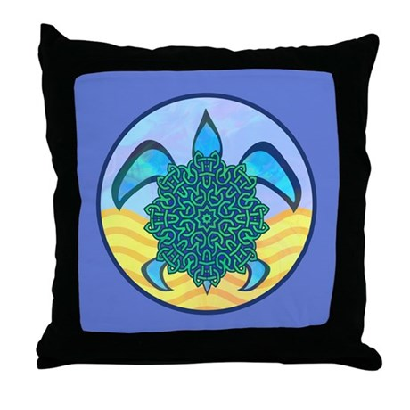 Knot Turtle Throw Pillow