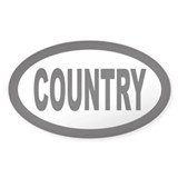 Country Oval Bumper Stickers