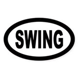 Swing Oval Bumper Stickers
