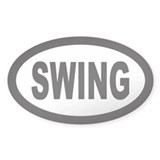 Swing Oval Decal