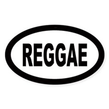 Reggae Oval Decal