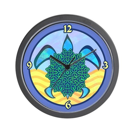Knot Turtle Wall Clock