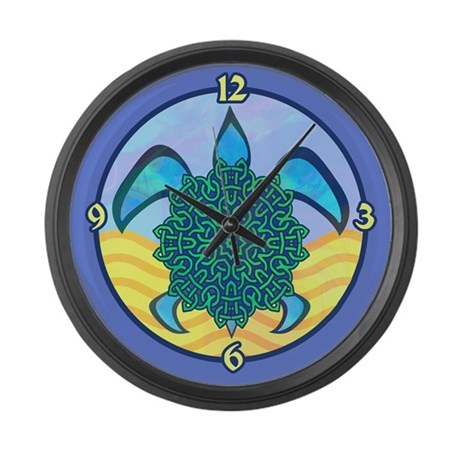 Knot Turtle Large Wall Clock