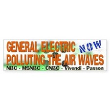 GE Airwave Pollution Bumper Bumper Sticker