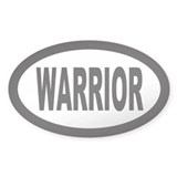 Warrior Oval Bumper Stickers