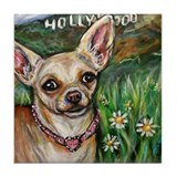 Hollywood Chihuahua Tile Coaster