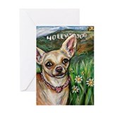 Hollywood Chihuahua Greeting Card