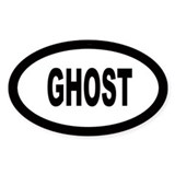 Ghost Oval Decal