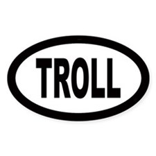 Troll Oval Decal
