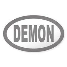 Demon Oval Decal