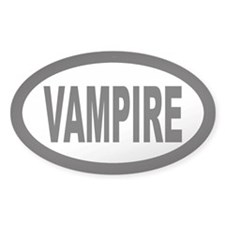 Vampire Oval Decal