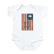 """""""Obama and Biden"""" Flag Infant Bodysuit"""