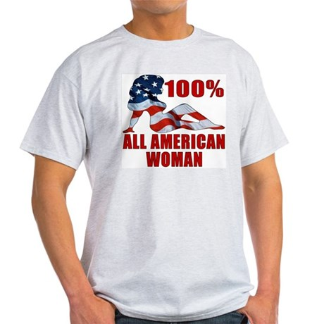 100% American Woman Ash Grey T-Shirt