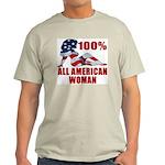 100% American Woman Ash Grey T-Shirt