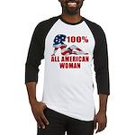 100% American Woman Baseball Jersey
