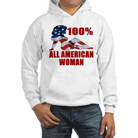 100% American Woman Hooded Sweatshirt