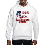 100% American Woman Hooded Sweatshirt