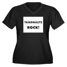 Taikonauts ROCK Women's Plus Size V-Neck Dark T-Sh