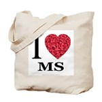 I Love MS Tote Bag