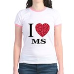 I Love MS Jr. Ringer T-Shirt
