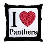 I Love Panthers Throw Pillow