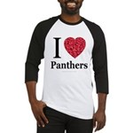 I Love Panthers Baseball Jersey