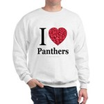 I Love Panthers Sweatshirt