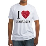 I Love Panthers Fitted T-Shirt