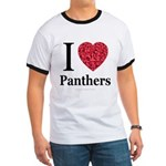 I Love Panthers Ringer T