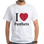 I Love Panthers White T-Shirt