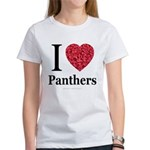 I Love Panthers Women's T-Shirt